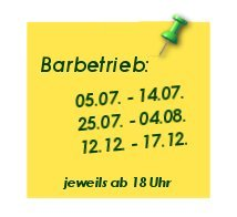Barbetrieb 2016